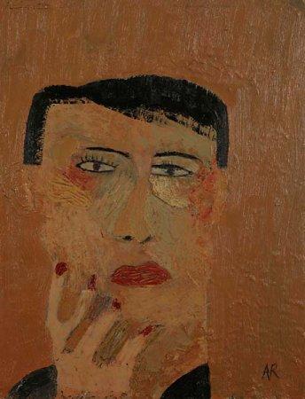 Portrait with Painted Nails - Details
