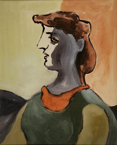Head of a Woman - Details