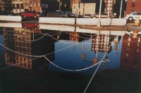 Laight St NY (Quipu net reflected in water) - Details