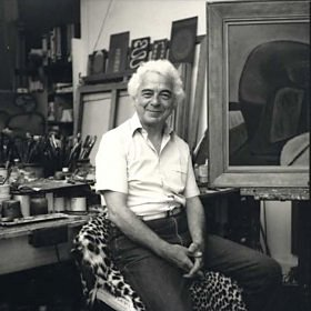 Ben Creme in his studio circa 1988, <br> photographed by Jane England. - image