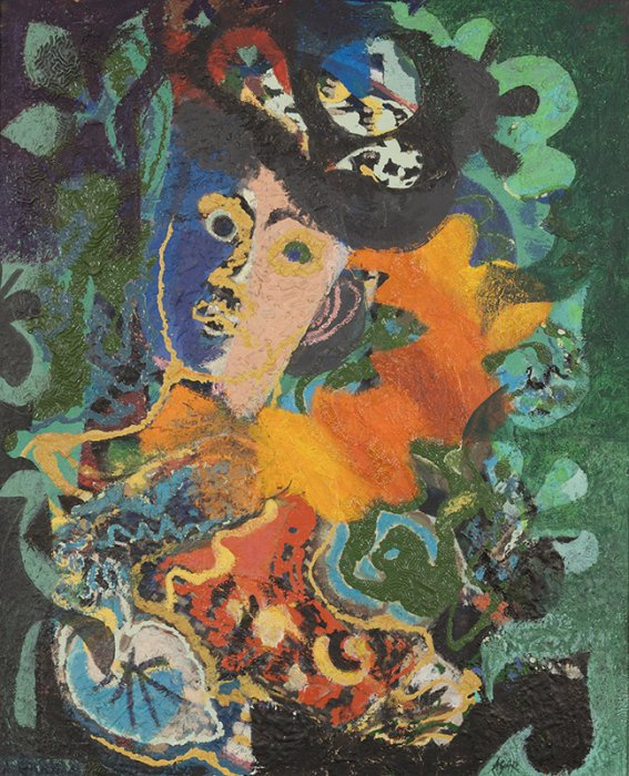 Portrait of the artist's mother - Details