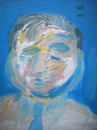 Blue Background Bacon Portrait - Details