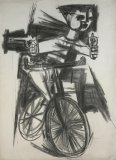 Study for Bicycle Warrior - Details