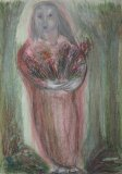 Standing Woman with Flowers - Details