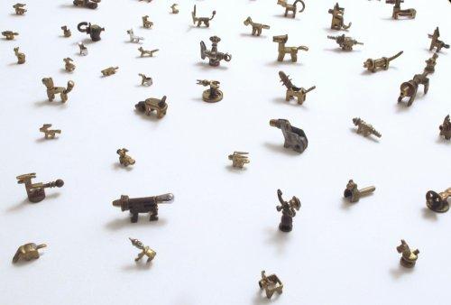 Collection of miniature metal sculptures - Details