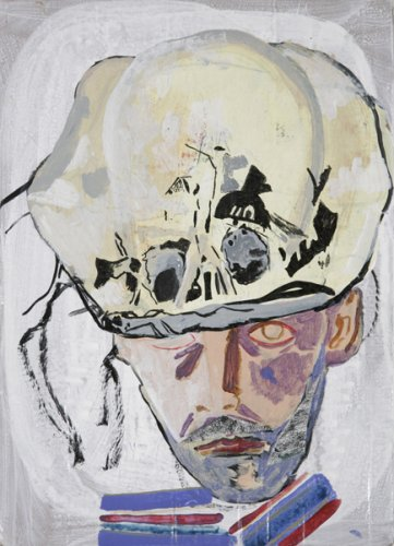 Self Portrait with Skull Hat - Details