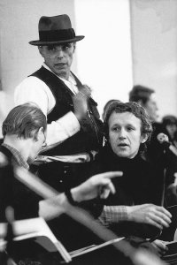 Stuart Brisley and Joseph Beuys at the symposium<br/> Art into Society into Art at the ICA, London, in 1974. - image