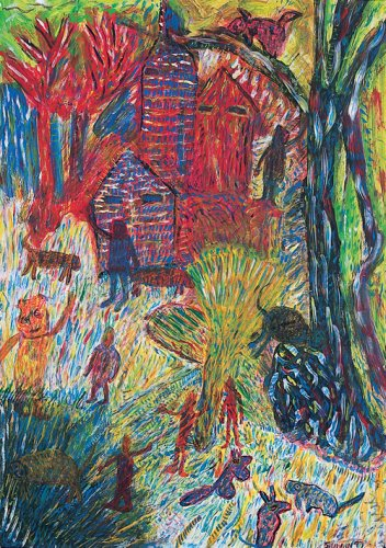 Untitled (Village Scene) - Details