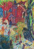 Untitled (Village Scene) - Details