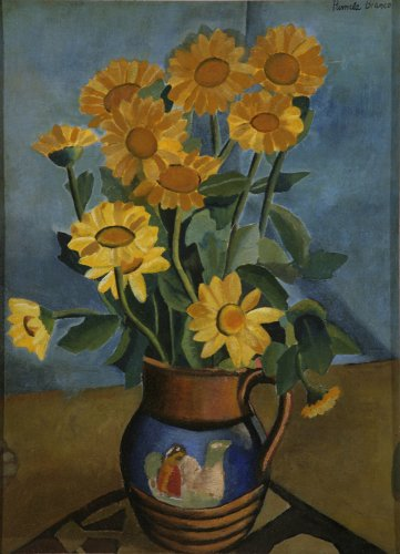 Yellow Flowers in a Jug - Details