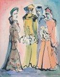 Four Actors in Costume - Details