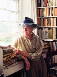 The artist at home in Chelsea, 1996.<br> Photograph by Jane England - image