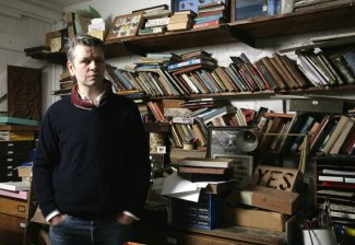 Chris Kenny in his studio, 2009.