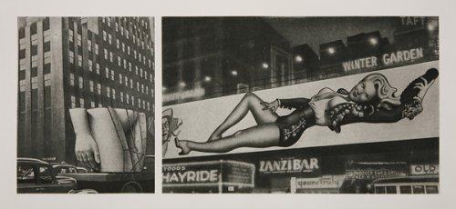Pubic torso on lorry... /Varga - Billboard - Girl  - Details