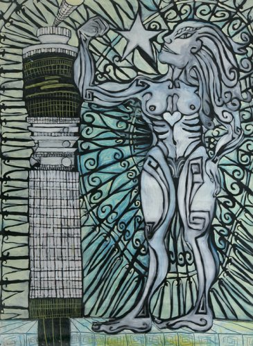 Muscle Woman and Post Office Tower - Details