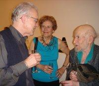 artists Stuart Brisley, Liliane Lijn and Gustav Metzger