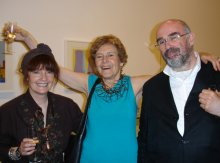 Jane England, Liliane Lijn and Dr David Alan Mellor