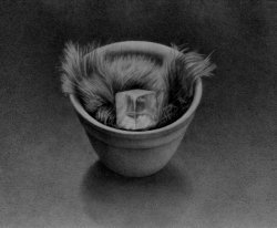Crystal and Fur,<br> 1982 pencil on paper<br> 7 x 9.5 inches - image