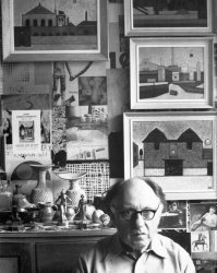 The artist in his studio, 1987 - image