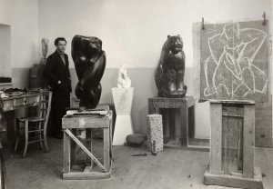 The artist in his Milan studio in 1936 - image