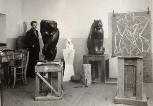 The artist in his Milan studio in 1936 - image