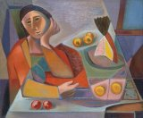 Woman at a Table - Details