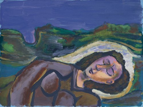 Girl Asleep in a Landscape - Details