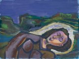 Girl Asleep in a Landscape - Details