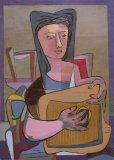 Girl with Zither - Details