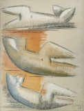 Three Studies for Reclining Woman - Details
