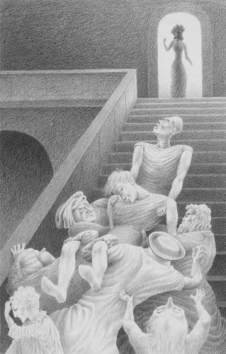 Illustration from 'Nine Tales from Les Contes Drolatiques'<br> - Details