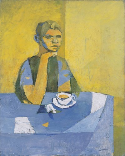 Figure Seated with a Cup of Tea - Details