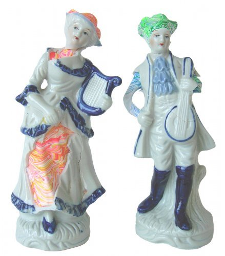 Couple with Musical Instruments - Details