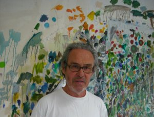 Peter Bunting in his studio, 2010 - image