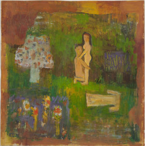Untitled (couple in a garden)