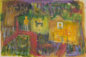 Untitled (man and house)