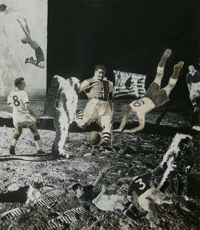 Michael Horovitz: Footy on the Moon No.2 (1971). Private collection.
