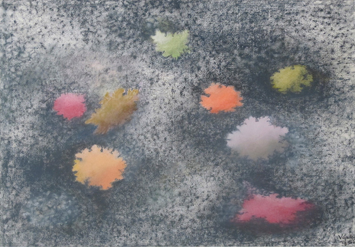 PAULE VEZELAY (1892-1984): Eight Fragments (1966). Pastel on paper. 18.5 x 23.5 ins.