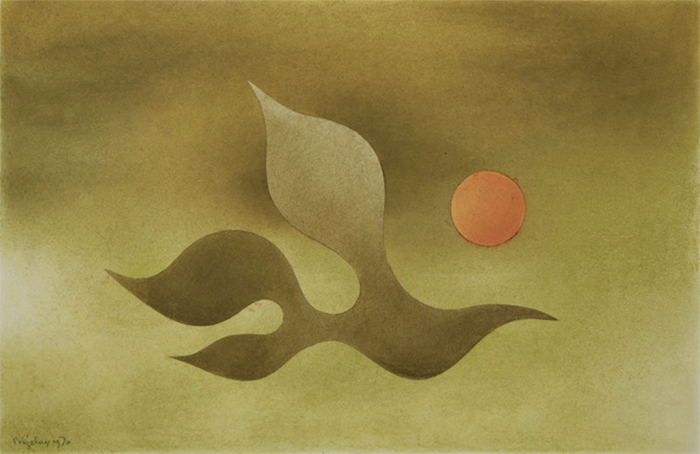 Paule Vézelay: A Moving Form and a Yellow Circle (1970).