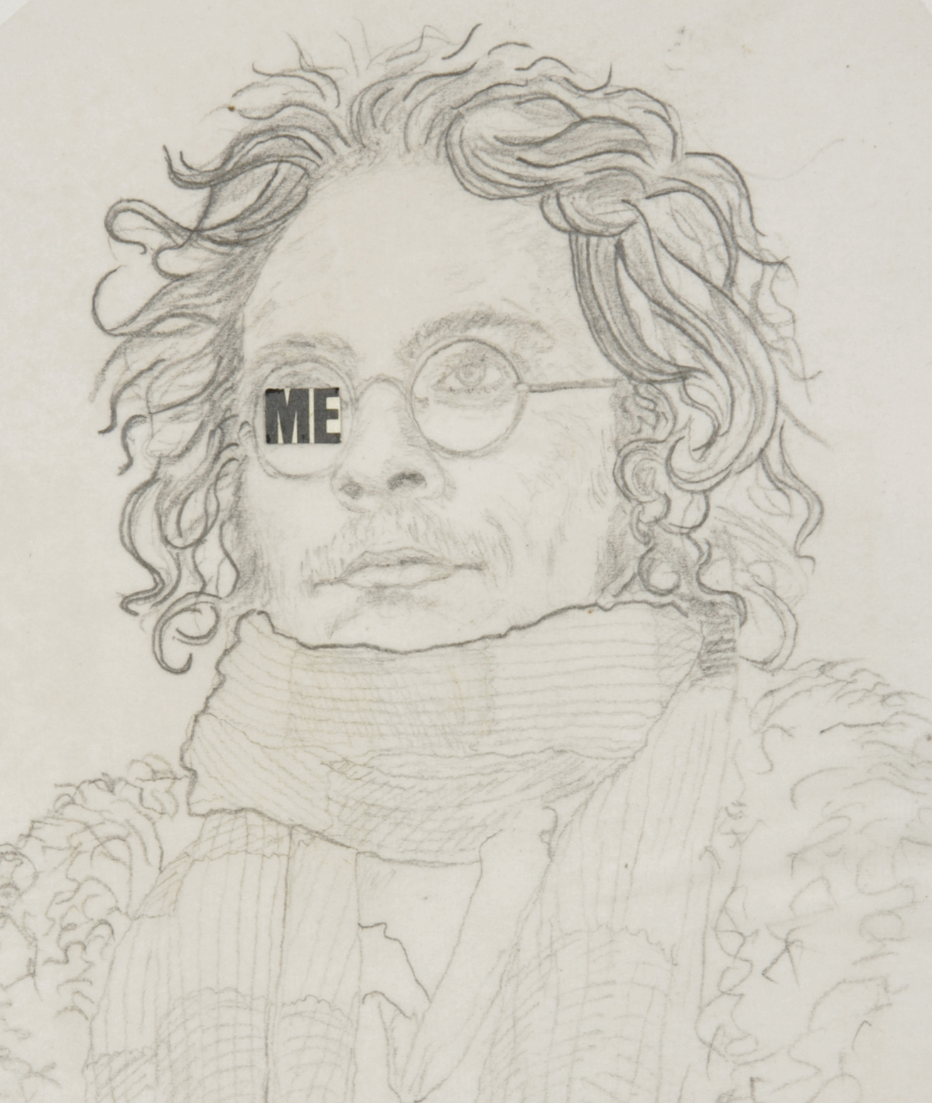 Self -portrait, c1965. Detail from notebook