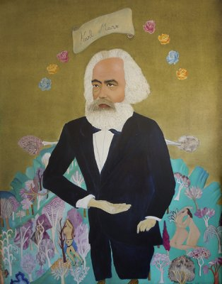 'Karl Marx' by Cecilia Vicuña at England & Co, London.