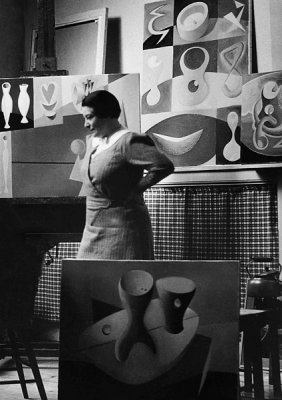 Paule Vézelay in her studio, 1934. England & Co.
