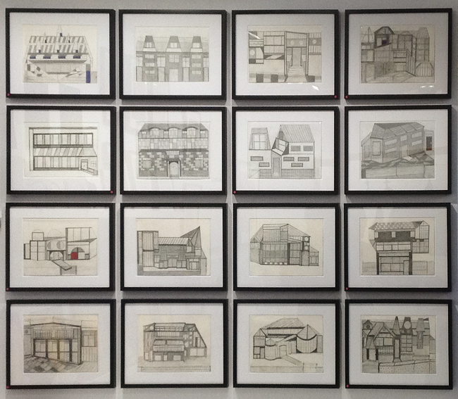 Drawings by Albert on the England & Co stand at the Hôtel du Duc.