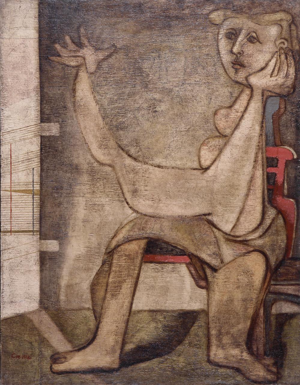 Benjamin Creme: Sybilline Figure (1943).