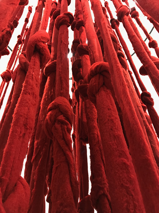 Quipu Womb by Cecilia Vicuña at documenta 14, Athens
