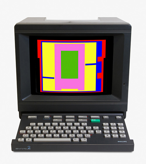 Minitel artwork by Eduardo Kac at London Art Fair 2016
