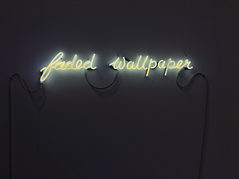 Faded Wallpaper neon by Tina Keane, England & Co