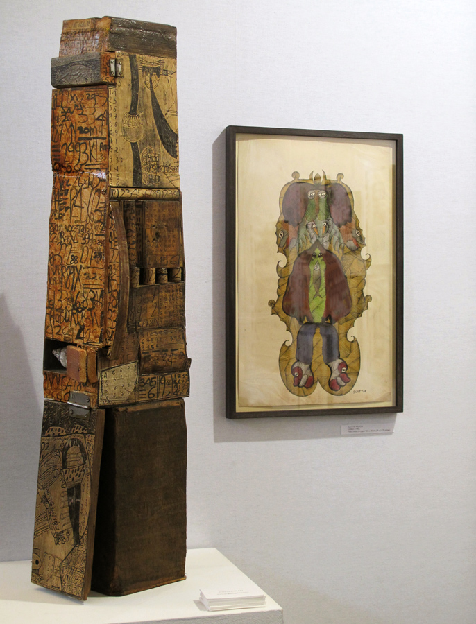 England & Co's stand at the Outsider Art Fair 2015 in Paris included works by Geneviève Seillé and Scottie Wilson.