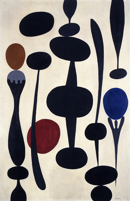 'Silhouettes' (1938) by Paule Vézelay. England & Co Gallery.