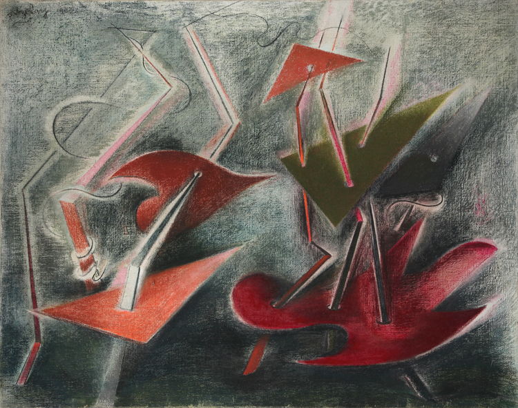 Composition (1933) by Paule Vézelay, Scottish Museum of Modern Art